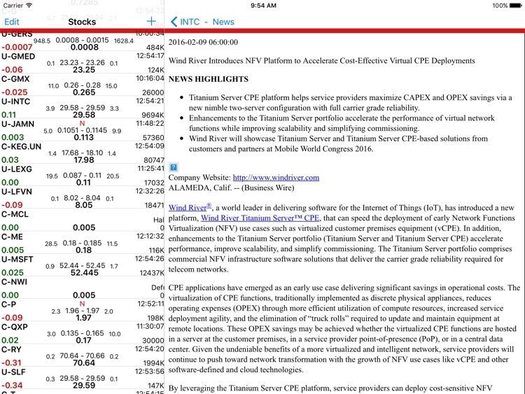 Stockwatch Ticker - iPad screenshot-4