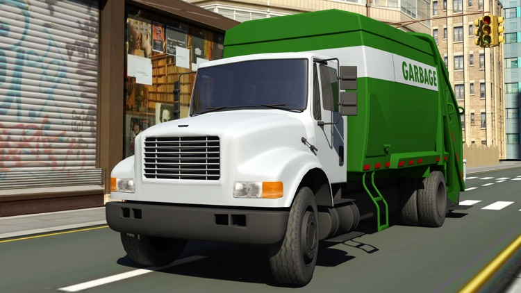 City Cleaner Garbage truck simulation
