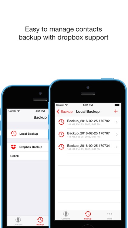 My Contacts Manager - Merge duplicate, backup, delete and manage your address book with dropbox