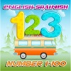 Learn English to Spanish Number 1 to 100 Free : Education for Preschool