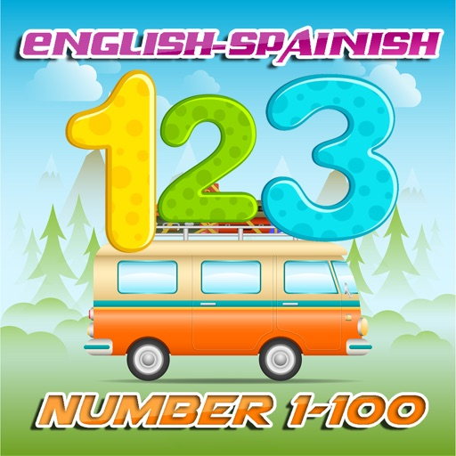 Learn English to Spanish Number 1 to 100 Free : Education for Preschool iOS App