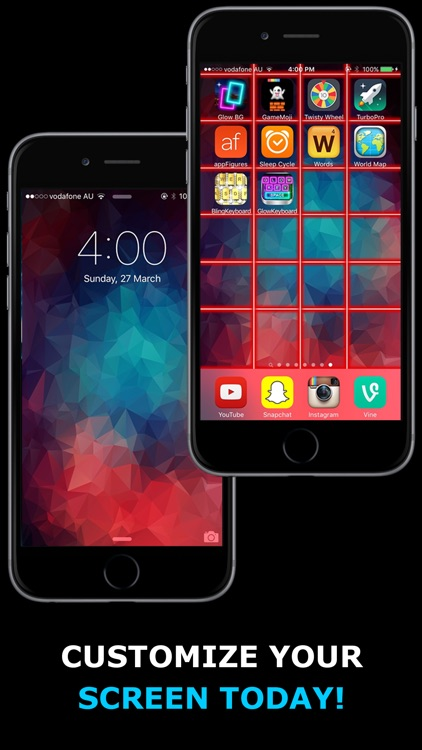 Glow Backgrounds - Customize Your Wallpaper! screenshot-3