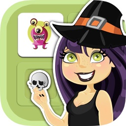 Halloween memory game: Learning game for kids
