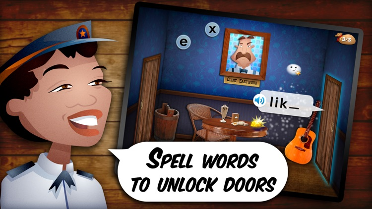 Mystery Word Town - Sight Word Spelling