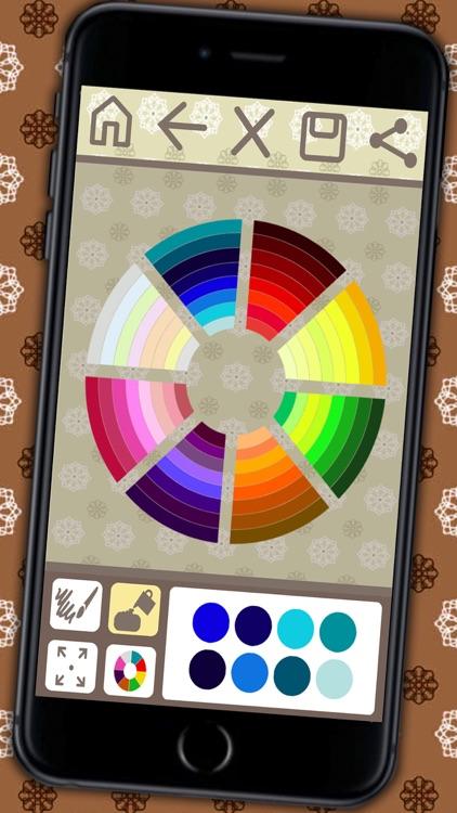 Coloring book Mandalas for adults (relax game of meditation) - Premium screenshot-3