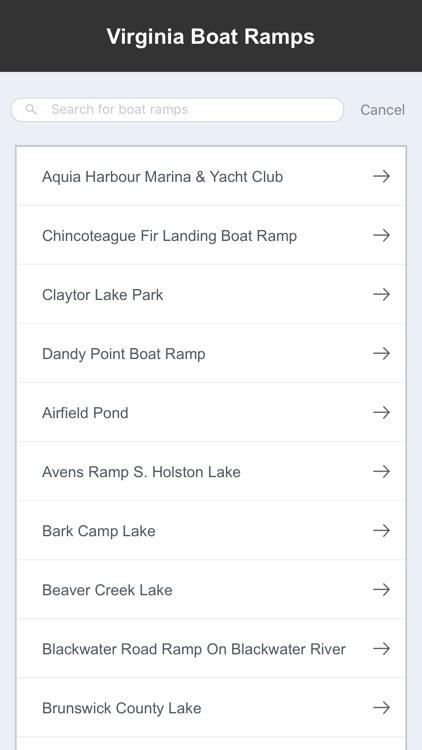 Virginia Boat Ramps & Fishing Ramps