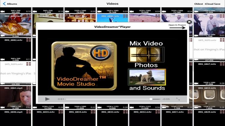Video Dreamer Movie Editor w/ HD 4k Player screenshot-4