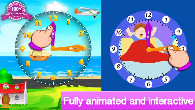 Telling the time - Teaching telling time with interactive clocks and fun games screenshot-3