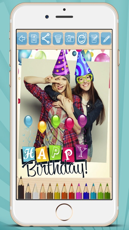 Create cards and postcards to wish happy birthday