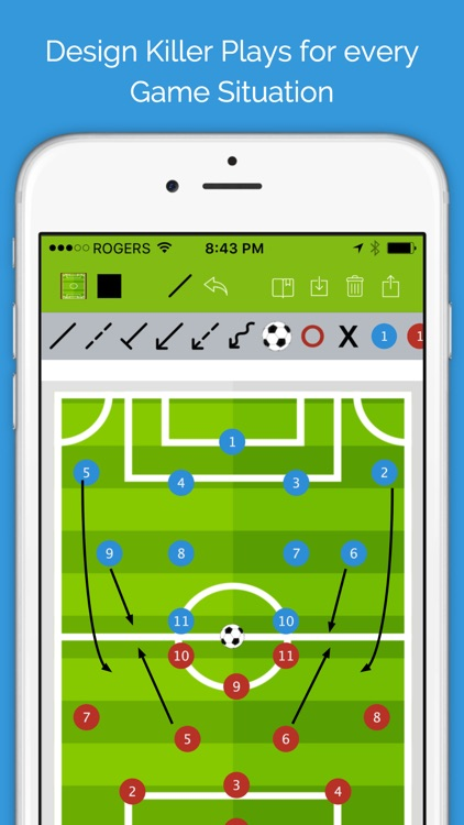 Soccer Blueprint Lite - Clipboard Drawing Tool for Coaches screenshot-3