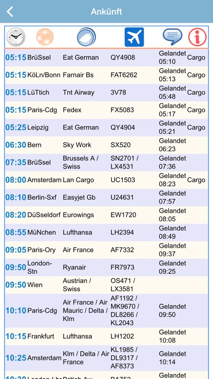EuroAirport Flight Status Live Airport by ezPass