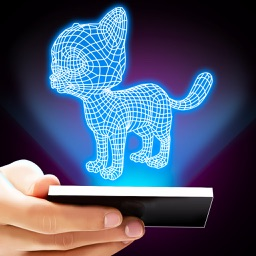 Hologram 3D Cat Prank