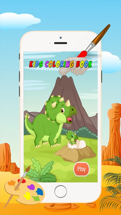 Dinosaur Coloring Book - Drawing and Painting Colorful for kids games free screenshot-4
