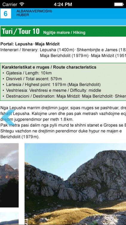 Vermosh, Tamare, Razma, Thethi. Tourist map. screenshot-4