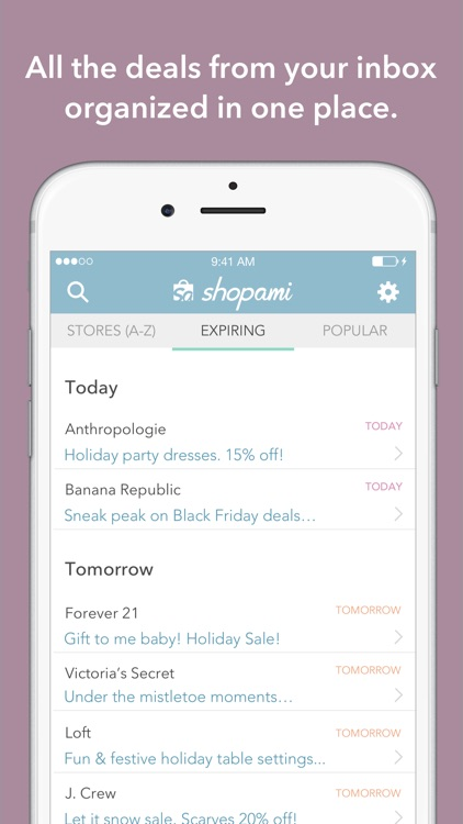 Shopami: Shopping app for coupons & discounts.