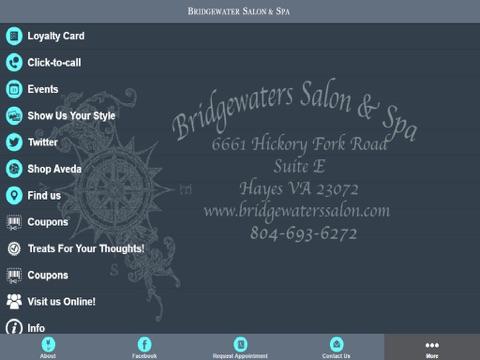 Screenshot of Bridgewaters Salon & Spa Inc.