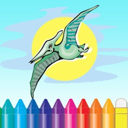 Dinosaur Coloring Book - Dino Baby Drawing for Kids Games