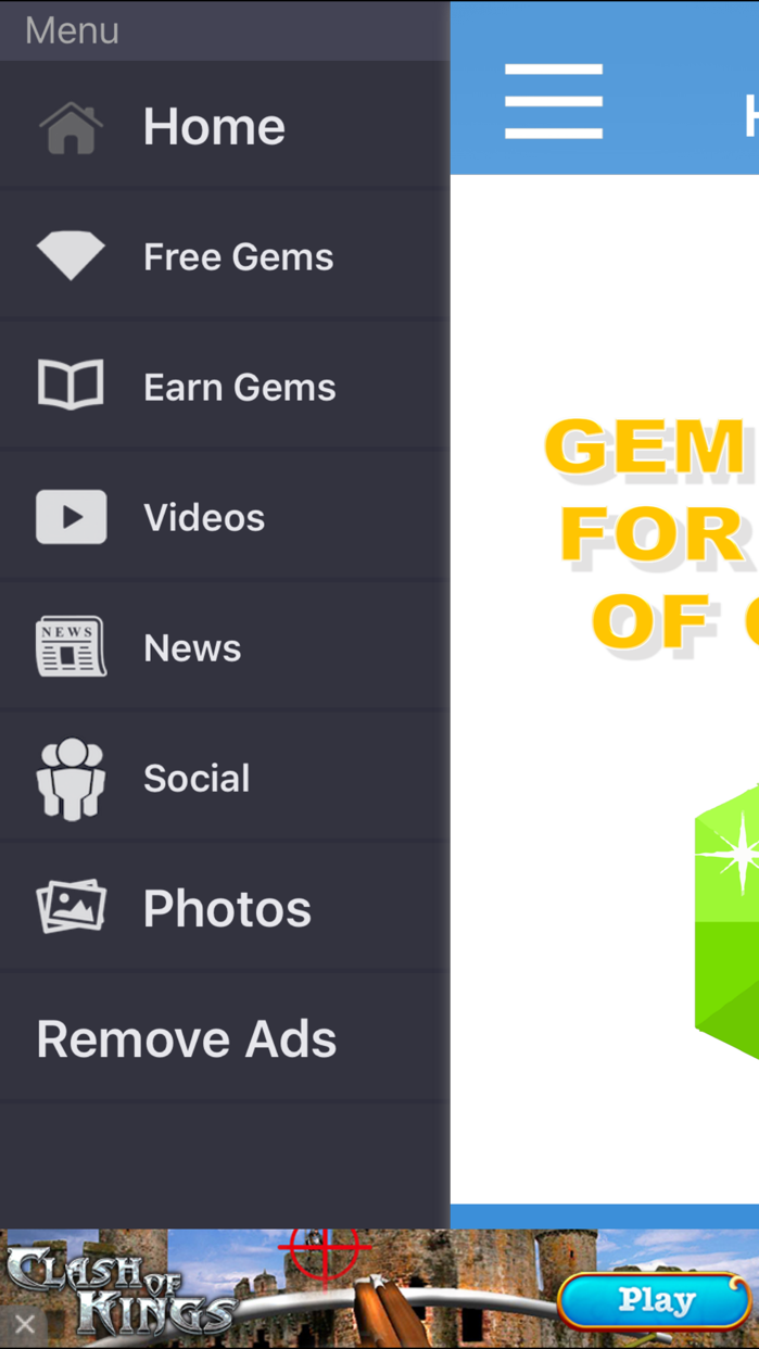 FREE Gem Hacks for Clash of Clans Screenshot