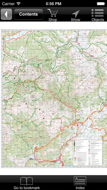 Tropojë, Bajram Curri, Valbona. Tourist map.