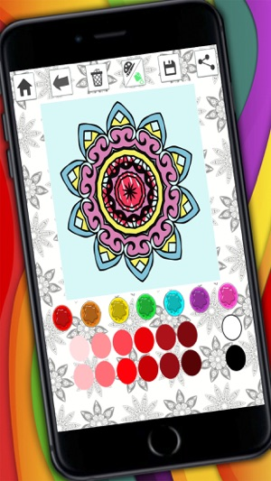 Mandalas Coloring Pages Secret Garden Colorfy Game For Adults On