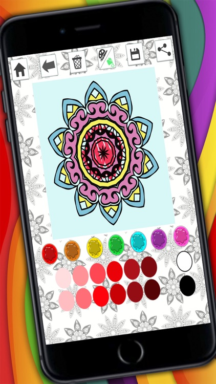 Mandalas coloring pages – Secret Garden colorfy game for adults