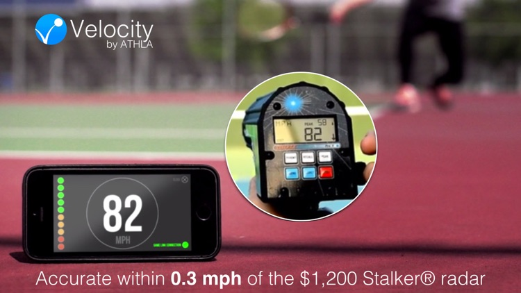 Athla Velocity: Hands-Free Speed Radar for Baseball, Softball, Tennis, Soccer and Cricket (Free)