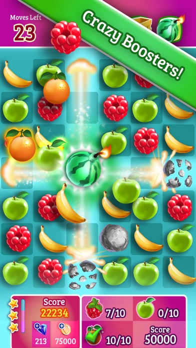 Smoothie Swipe - Free Match 3 Fruit Juice Maker Screenshot