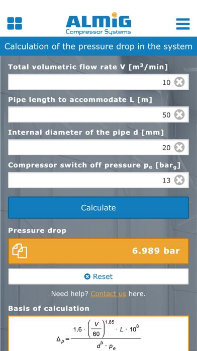 Compressed Air Calculator by ALMiG