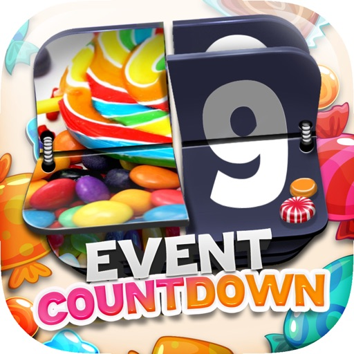"Event Countdown Fashion Wallpaper  - "" Candy "" Pro"