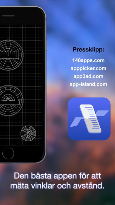 Screenshot for Flytta och mät – Flying Ruler in Sweden App Store