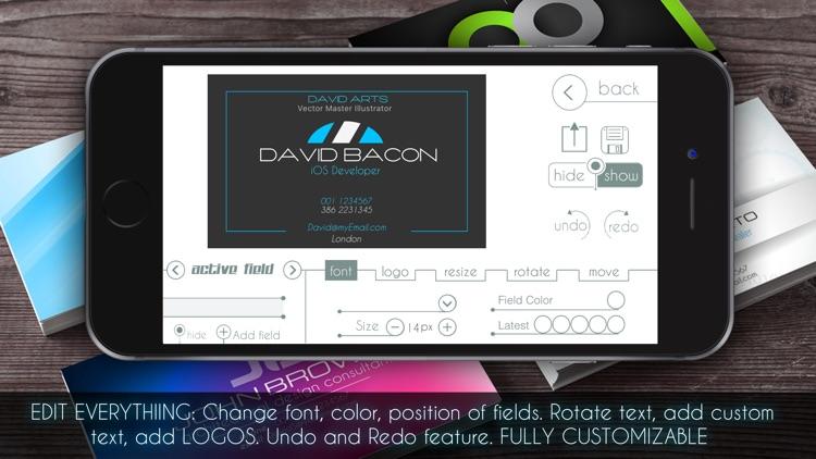 Business Card Creator PRO screenshot-4