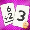 2, 3, 4 학년 어린이를위한 부문 플래시 카드 매치 게임 앱 아이콘 이미지