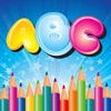 ABC Alphabet Coloring Book Pages Game for Preschool