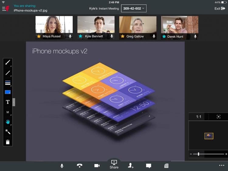 Fuze Meetings for iPad screenshot-3
