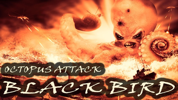 Black Bird Octopus Attack - Hungry Cuttlefish Invasion Heli Strike 3D