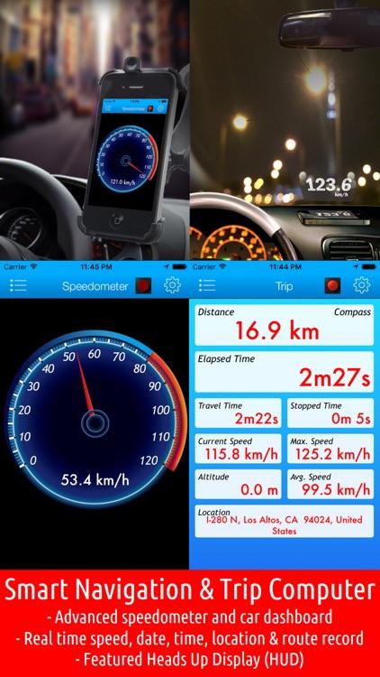 Smart Speed Tracker-GPS Speedometer, HUD and Trip Computer