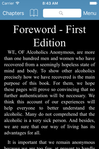 AA Big Book - Alcoholics Anonymous screenshot 2