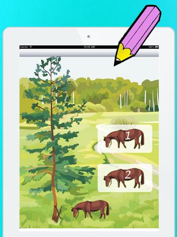 Actief! Kleurboek van Paarden Voor Kinderen: Leren Om Te Schilderen en Kleur van het Paard iPad app afbeelding 3