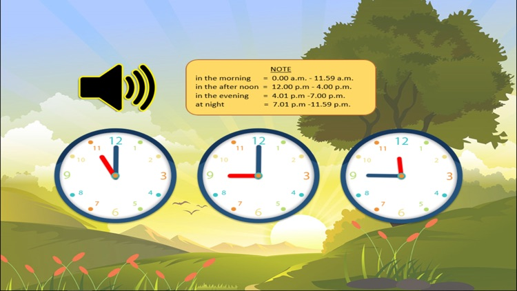 Learn to tell time with analog clock that suits for kids screenshot-3