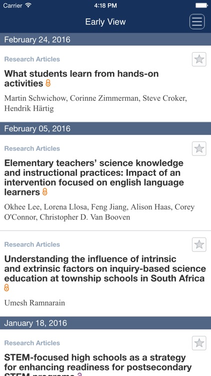 Journal of Research in Science Teaching screenshot-3