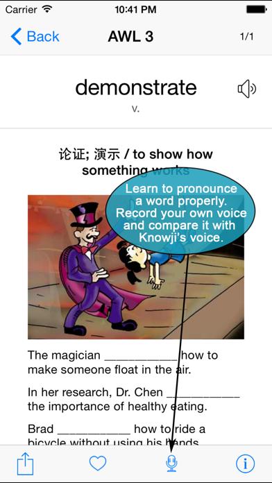 Knowji AWL+ Lite (Academic Word List) screenshot three