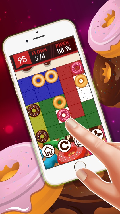 Doughnut Pair hd lite free : - The easy connect game for boys and girls screenshot-4