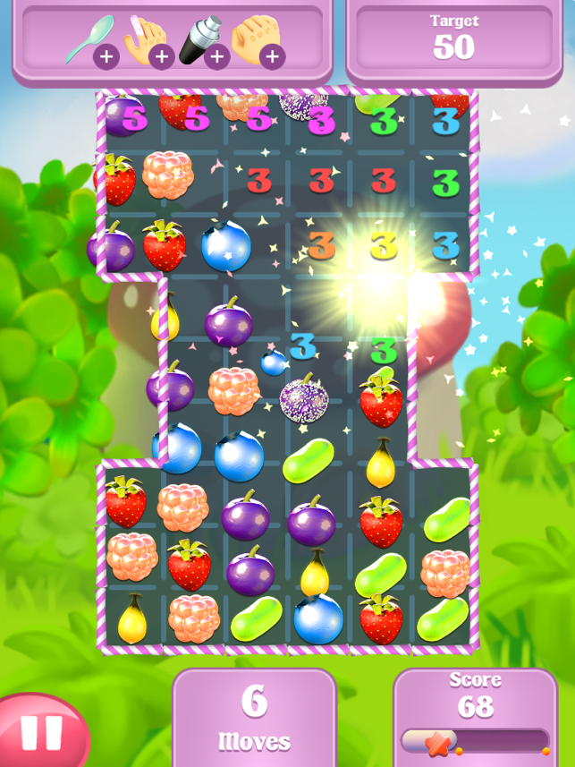Berry Pop:Match Three Free, game for IOS