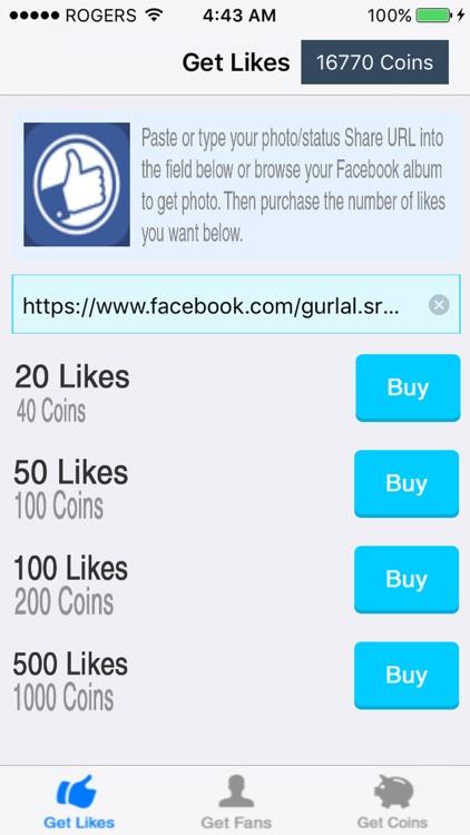 Facebuster - Get 10000 Likes for Facebook, Bebo Lightbox