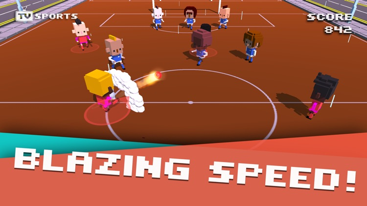 TV Sports Soccer - Endless Blocky Runner