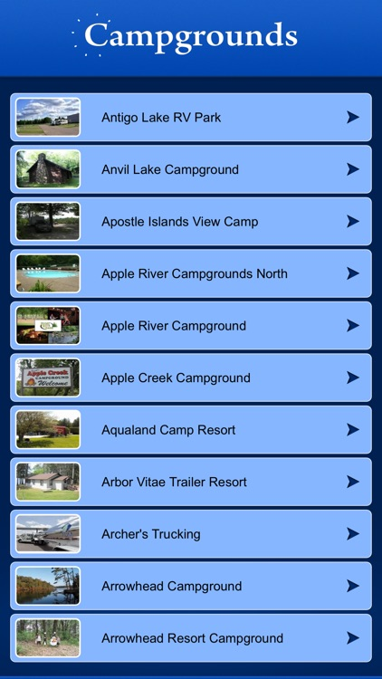 Wisconsin Campgrounds and RV Parks