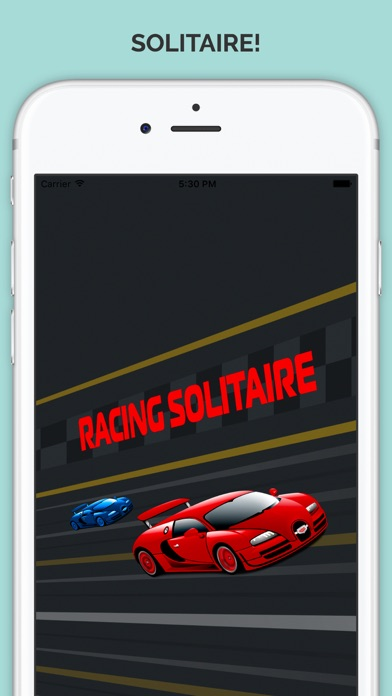 Racing In a Car Solitaire Traffic Rider Racing Rivals Classic Card Game Pro Screenshot