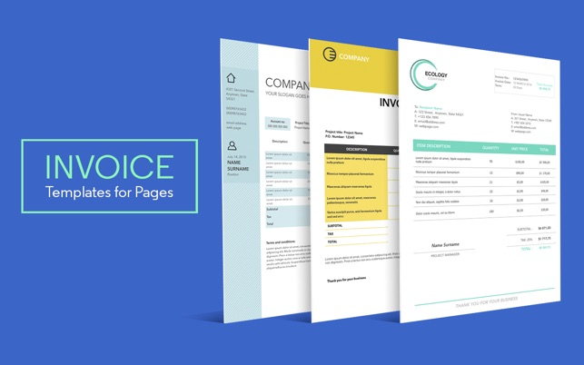 Invoice Templates For Pages On The Mac App Store - Invoice template pages
