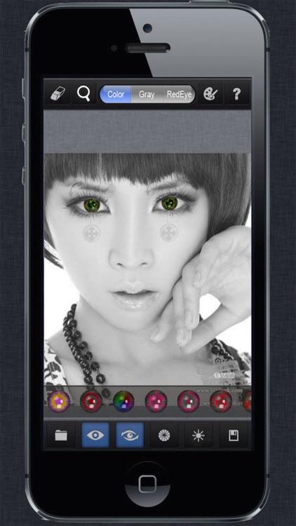 Magic Eye Color Effect-Eye Color Changer,Red Eye Remover screenshot-3