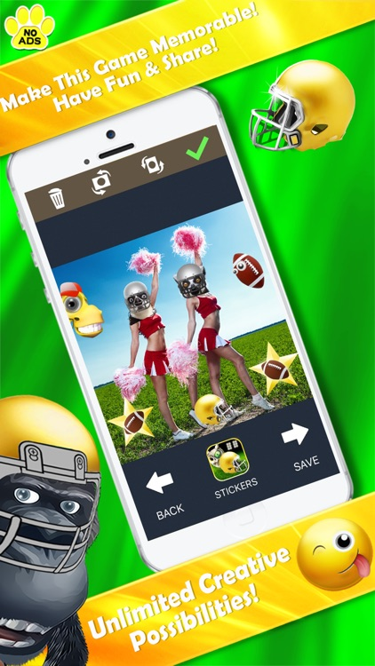 Football Zoo Owl Selfie Camera; 50+ Super Stickers
